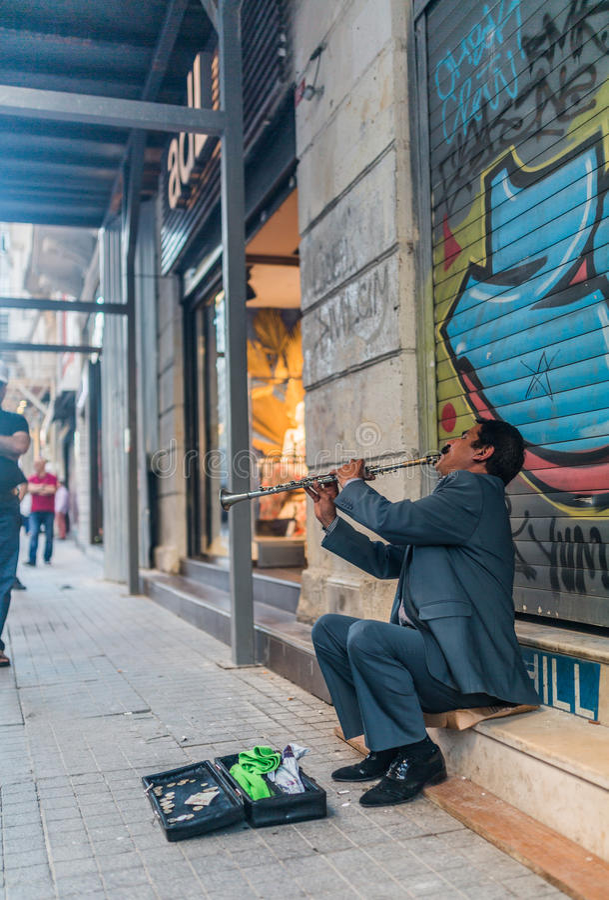 Musicien de rue à Istanbul photographie stock