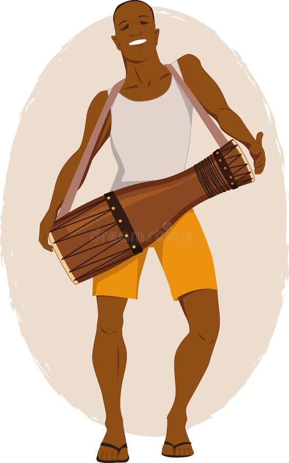 Musicien de tambour de Bata illustration de vecteur