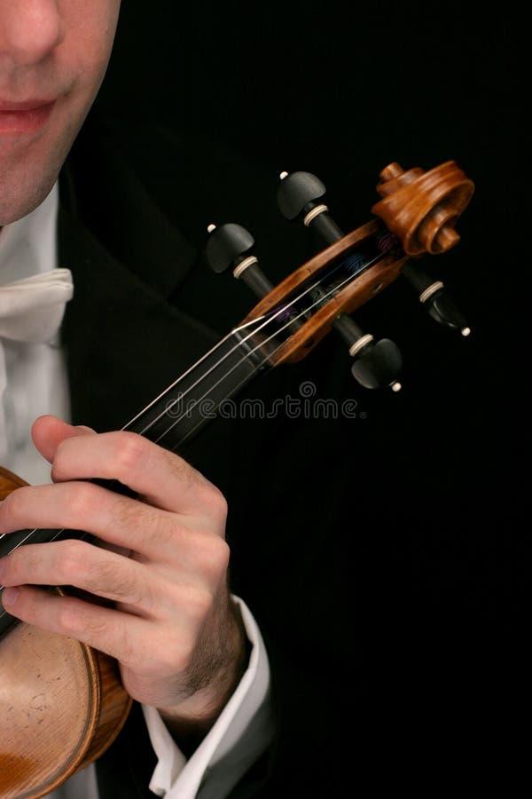 Musicien de violon photo stock