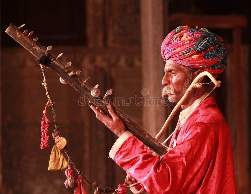 Musicien indien photos stock