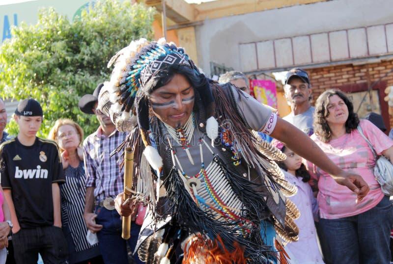 Musicien indien péruvien au pélerinage populaire photo stock