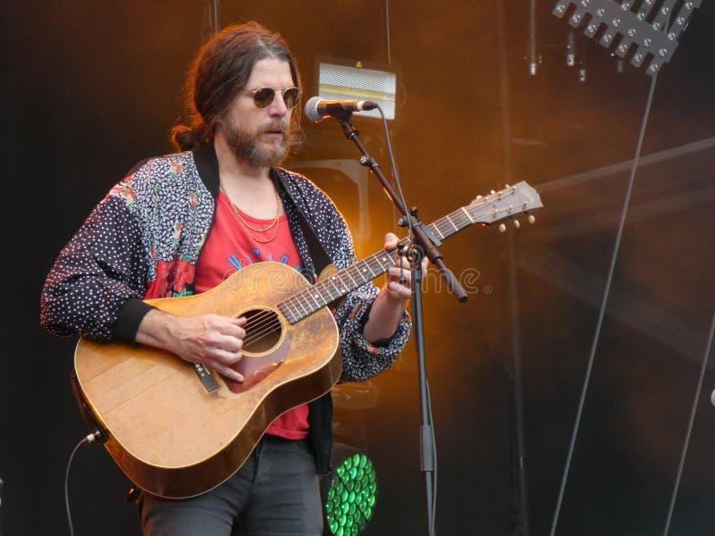Musicien Jonathan Wilson au festival carré principal 2019, Arras, France photos libres de droits