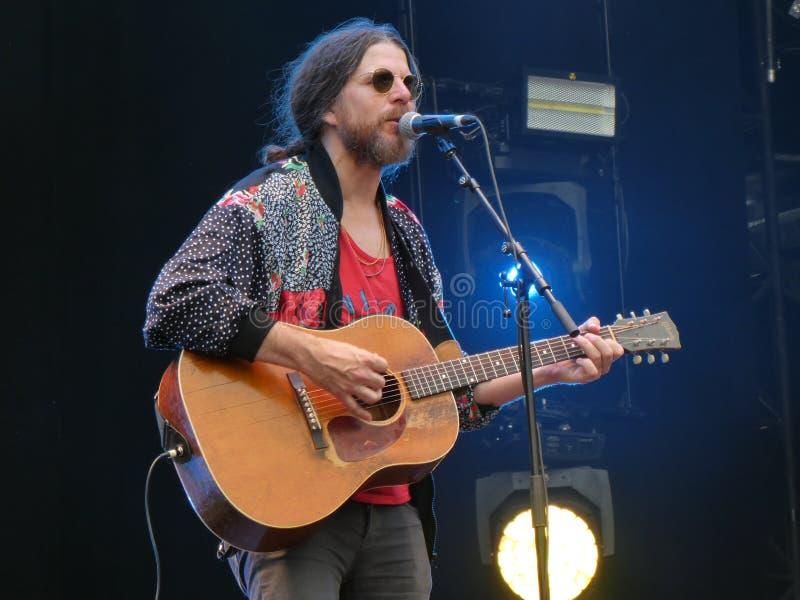 Musicien Jonathan Wilson au festival carré principal 2019, le 7 juillet, Arras, France photo libre de droits