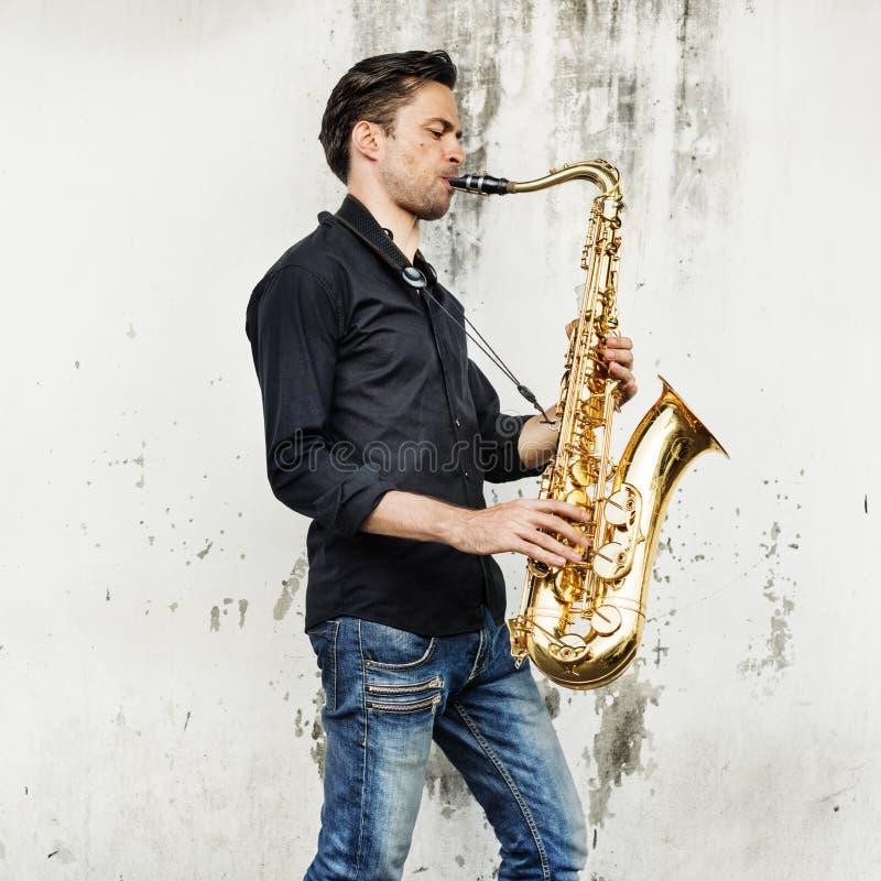Musicien Sax Concept d'Alto Saxophone Artist Classical Jazz photo libre de droits