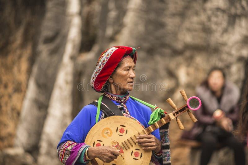 Musicien traditionnel China images libres de droits