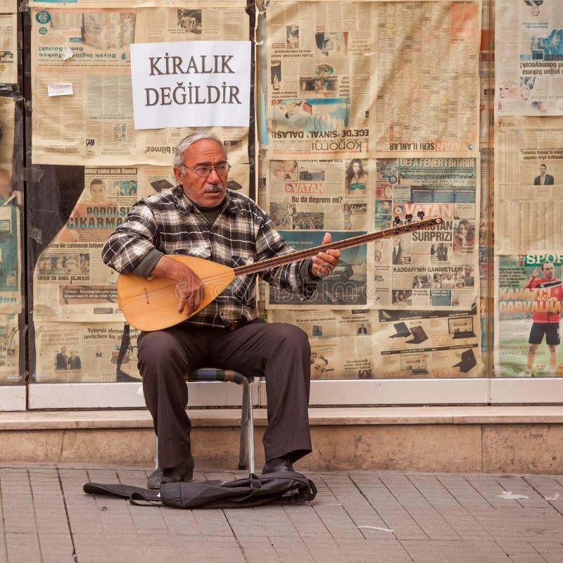 Musicien turc de rue photo libre de droits