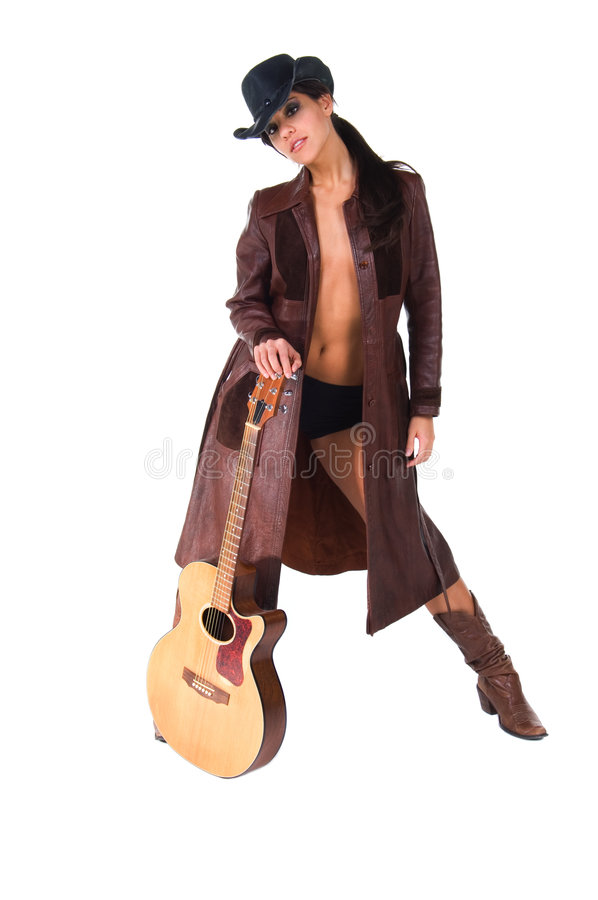 Musicienne de cow-girl image stock
