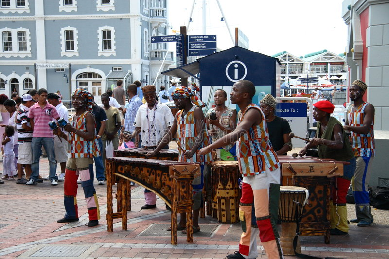 Musiciens africains photo stock