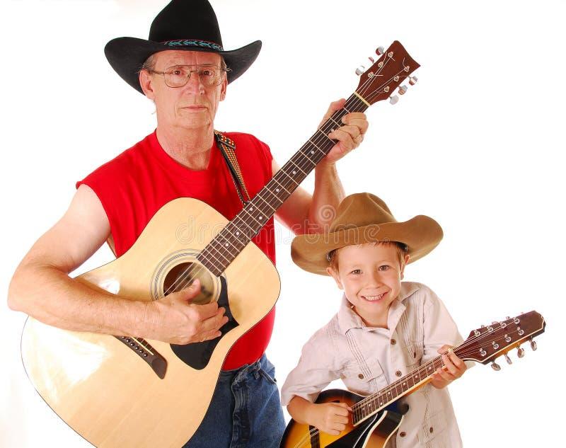 Musiciens anciens de pays image stock