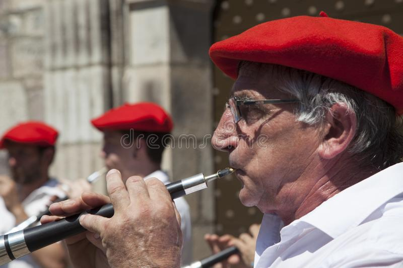 Musiciens Basques images libres de droits