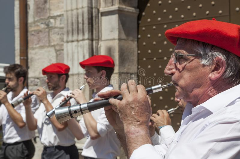 Musiciens Basques photographie stock