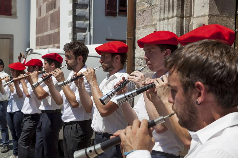 Musiciens Basques photo libre de droits