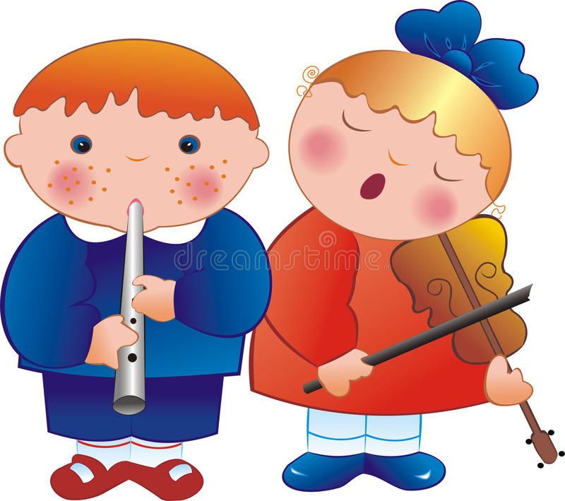 Musiciens d'enfants illustration stock