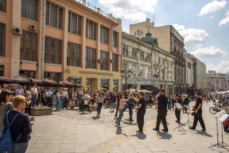 Musiciens de rue à Moscou photo libre de droits