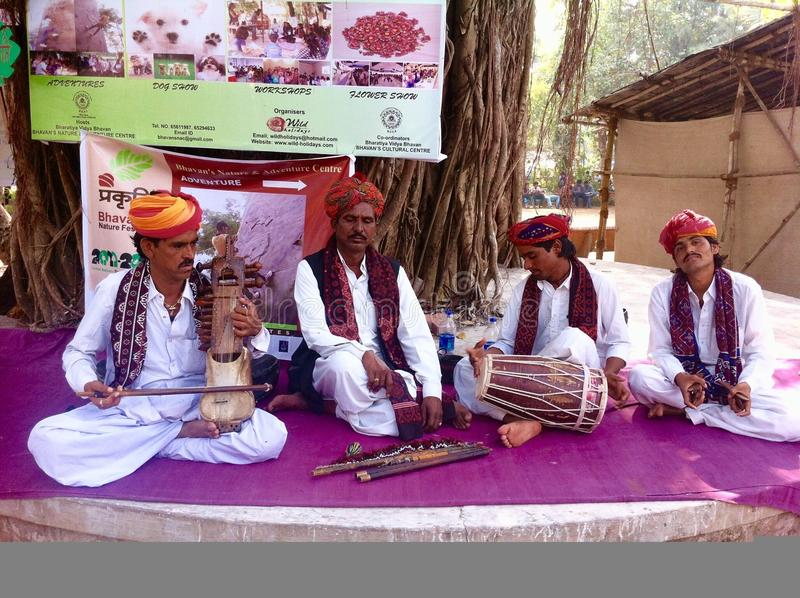 Musiciens folkloriques indiens photographie stock libre de droits