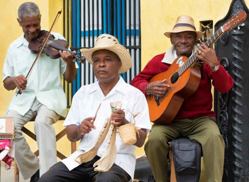 Musiciens jouant la musique traditionnelle dans Havan images libres de droits