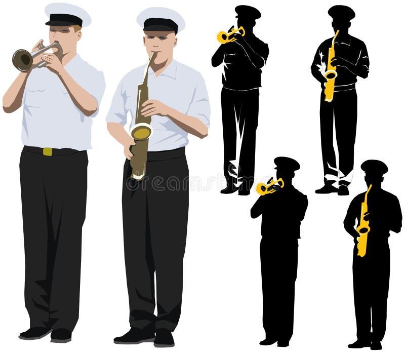 Musiciens militaires illustration libre de droits