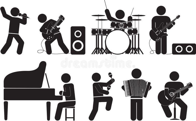 musicista illustrazione vettoriale