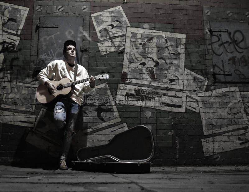 Musicista ambulante di Belfast fotografie stock