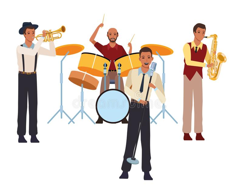 Musicista che gioca in una banda illustrazione vettoriale