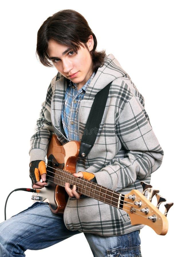 Musicista della roccia del giovane fotografia stock
