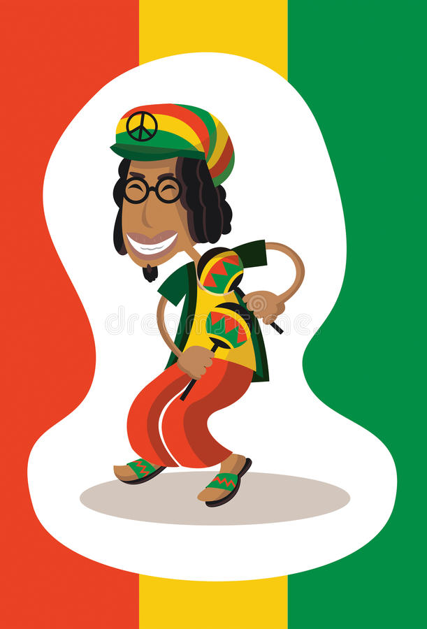 Musicista di reggae illustrazione vettoriale