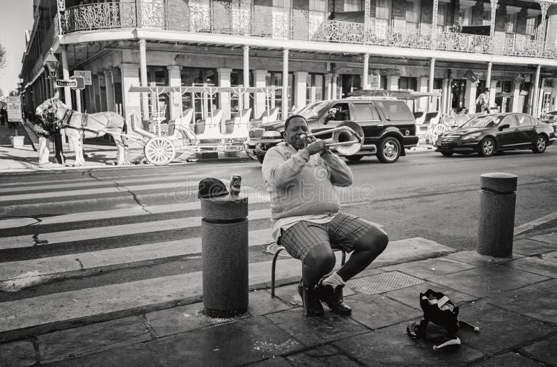 Musicista New Orleans della via immagine stock