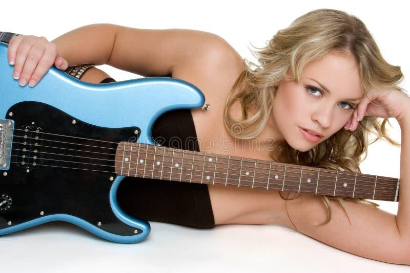 Musicista sexy immagine stock