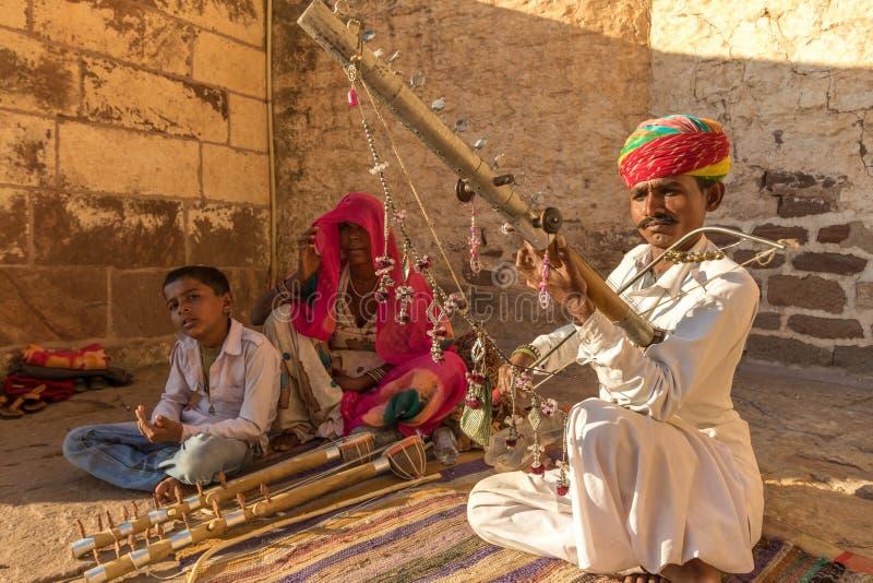 Musicista tradizionale di Rajasthani immagini stock libere da diritti