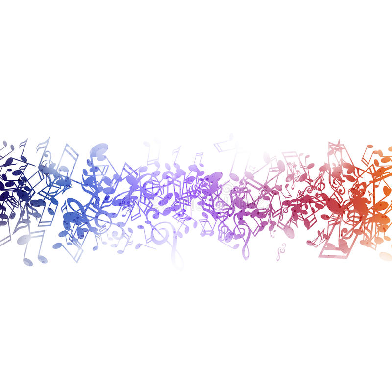 Musicnotes coloré illustration stock