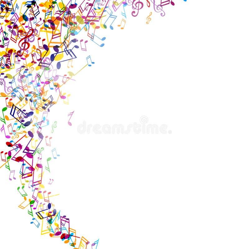 Musicnotes colorido stock de ilustración
