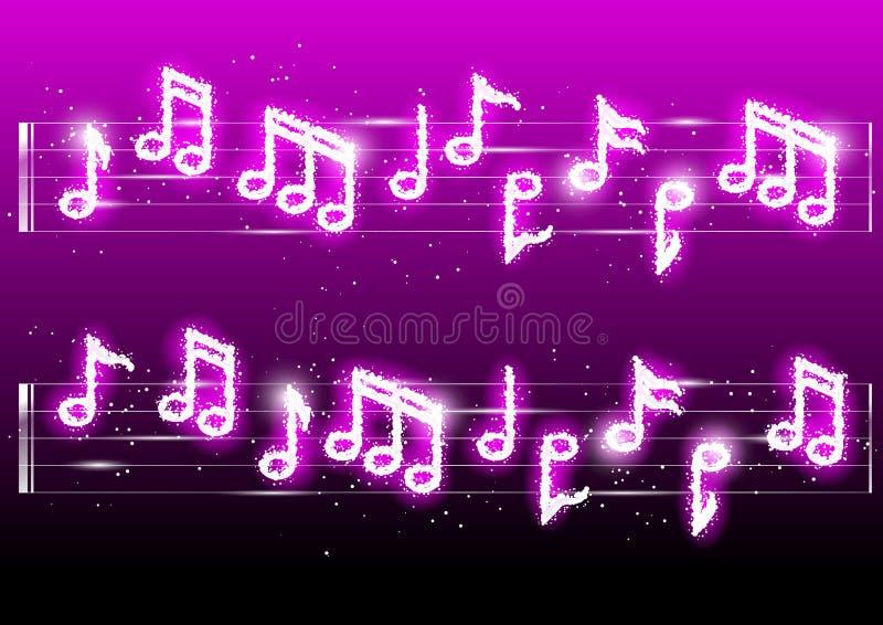 Musicnotes dos fogos-de-artifício do vetor ilustração stock
