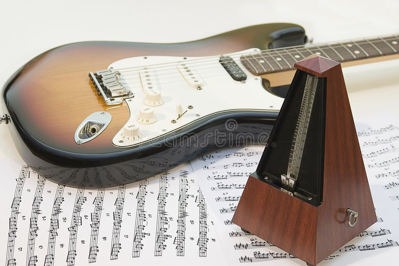 Musics equipment stock photography