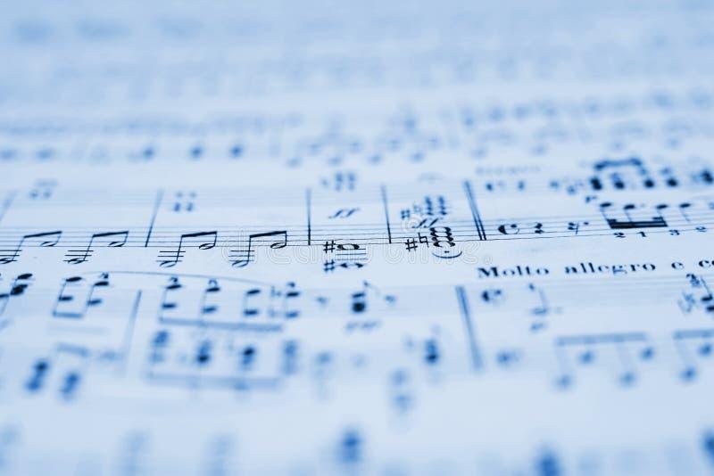 Musicsheet imagen de archivo