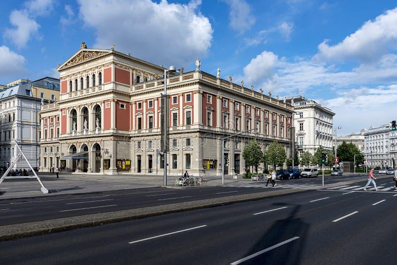 Musicverein - μέγαρο μουσικής της Βιέννης, Αυστρία στοκ εικόνες