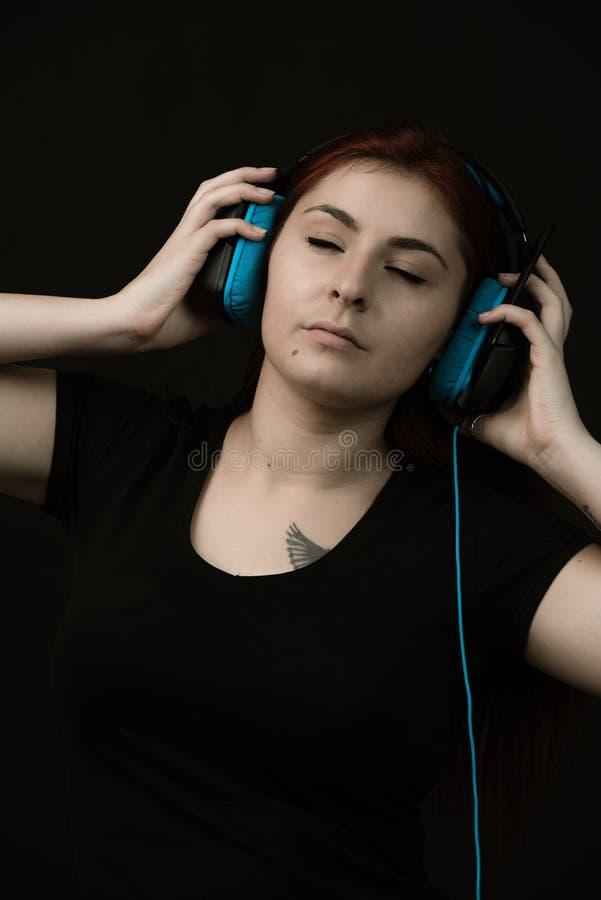 Musik är min förälskelse, passion, låter mig känna mig fritt arkivfoton