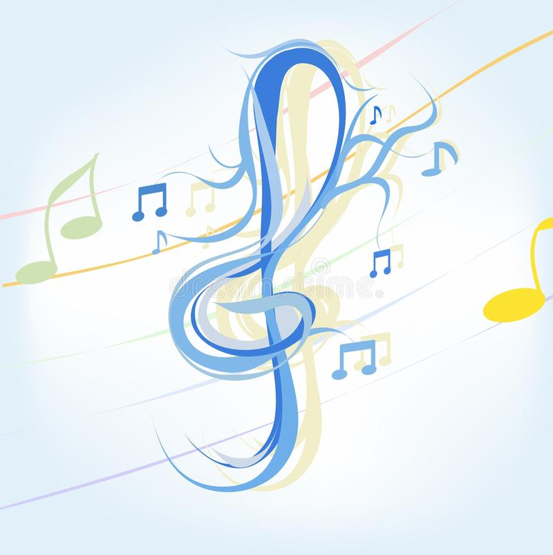 Musik royalty-vrije illustratie