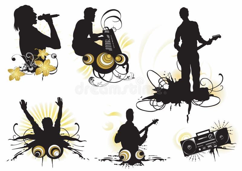 musik royaltyfri illustrationer