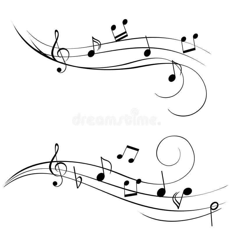 Musik-Anmerkungen lizenzfreie abbildung