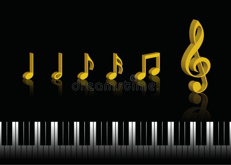Musik-Anmerkungen vektor abbildung