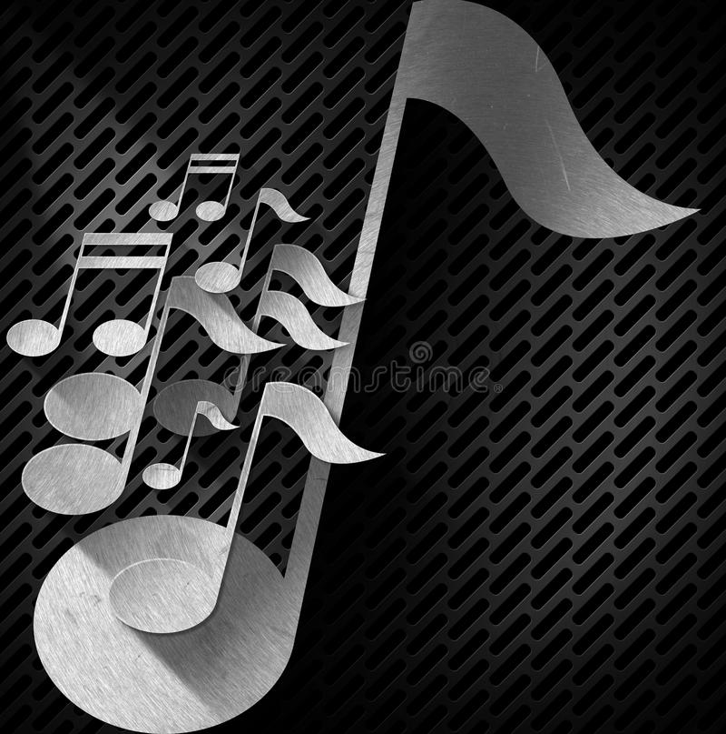 Musik-Anmerkungs-Hintergrund - Metallgitter lizenzfreie abbildung