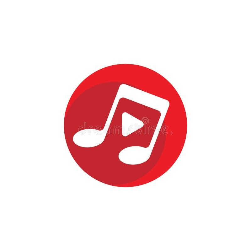 Musik-Anmerkungs-Ikone stock abbildung