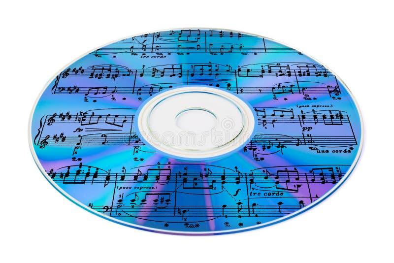 Musik auf Cd lizenzfreies stockfoto