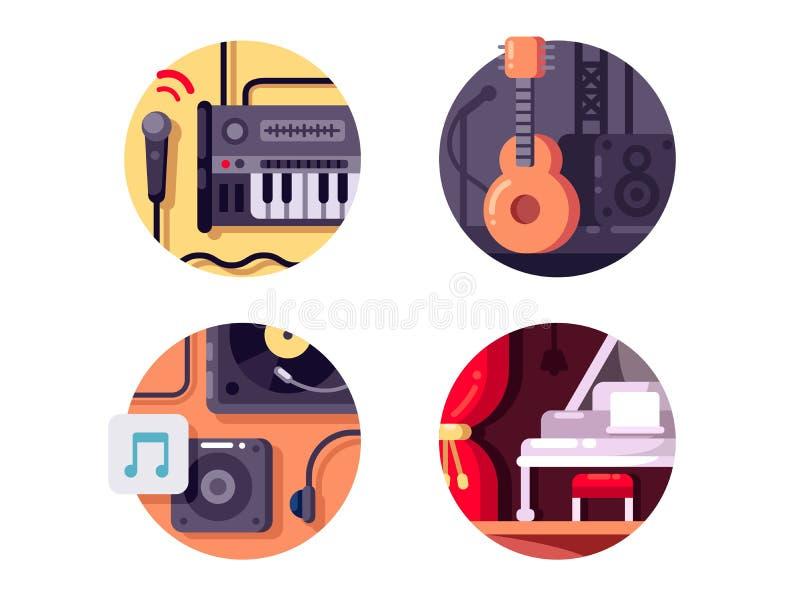 Musik Ausrüstung und intstrument lizenzfreie abbildung