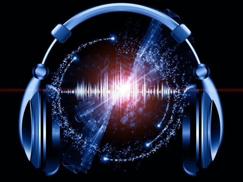 Musik av hörlurar vektor illustrationer