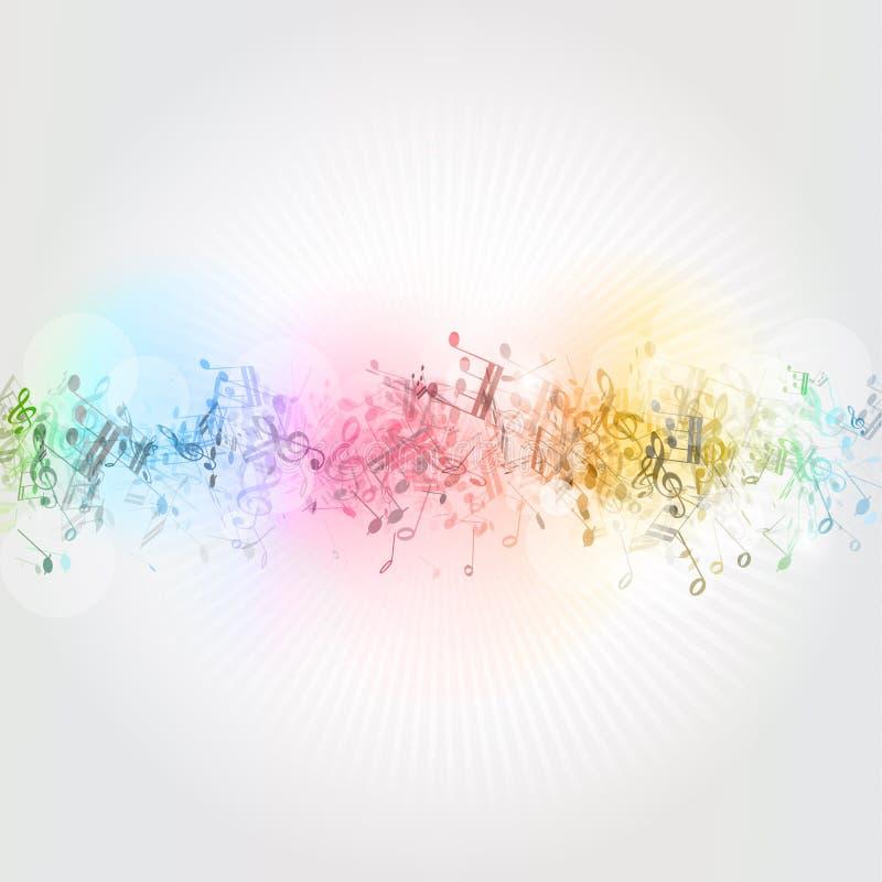 Musik bemärker bakgrund royaltyfri illustrationer