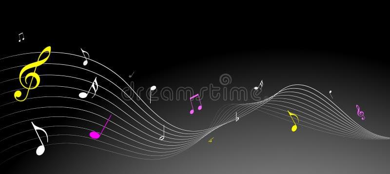 musik bemärker enkelt stock illustrationer