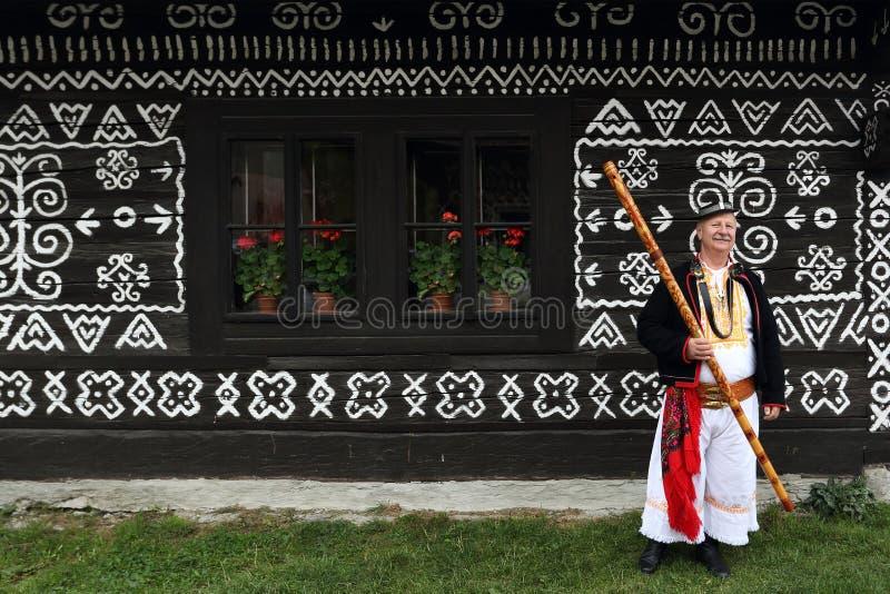 Musik Cicmany, Slovakien royaltyfri foto