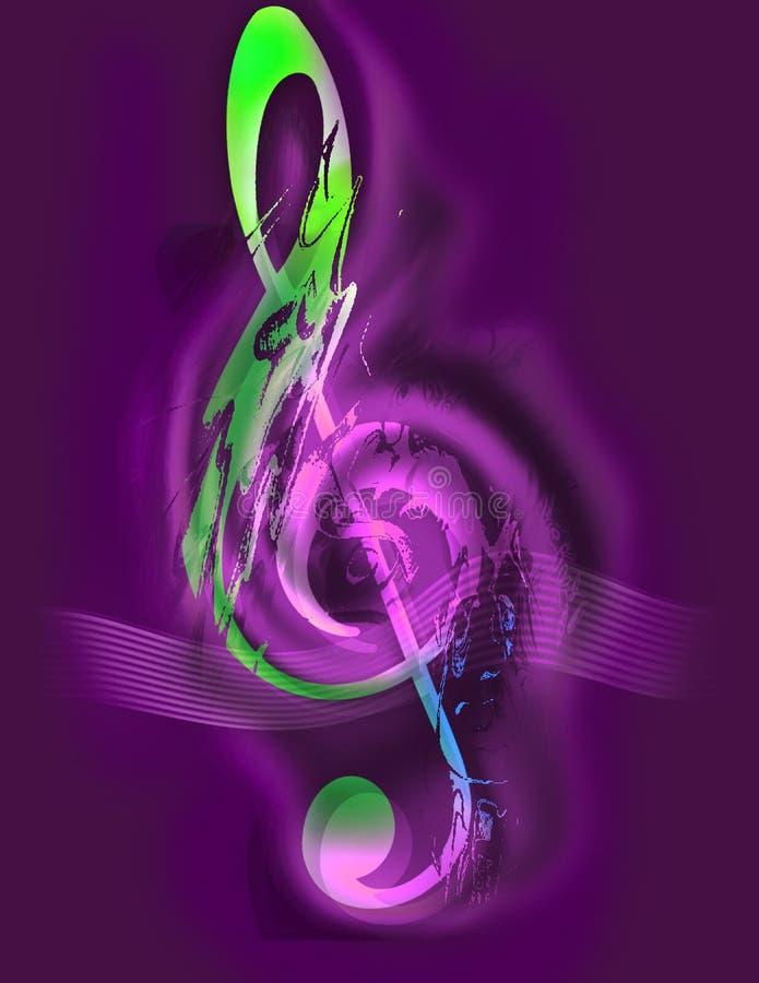 Musik - dreifacher Clef - Musik Digital- stock abbildung