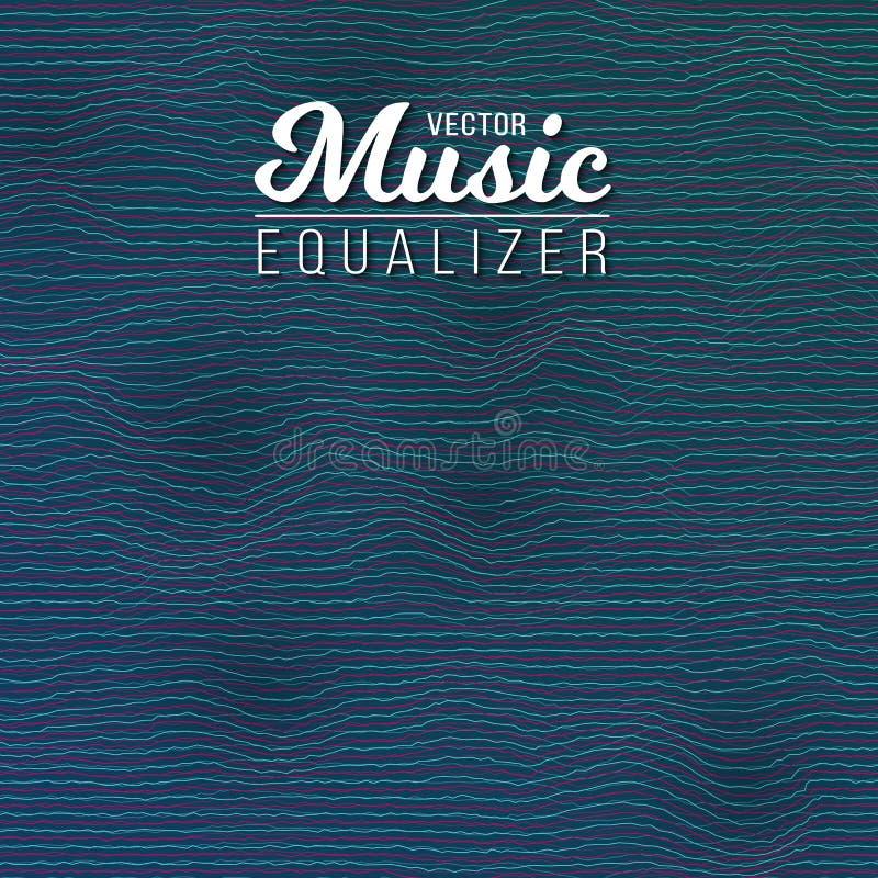Musik-Entzerrer-Digital-Störschub-Effekt vektor abbildung